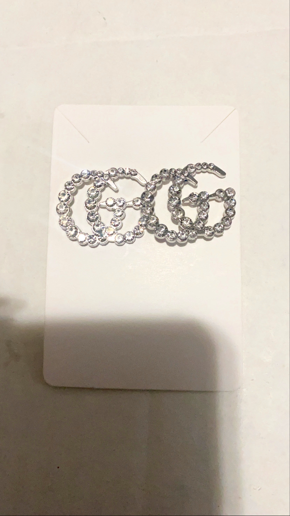 Gina Silver Stud Earrings