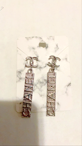 CHA Silver Drop Earrings