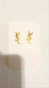 Y Earrings Gold (mini)