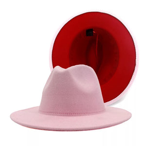 Pink and Red Fedora