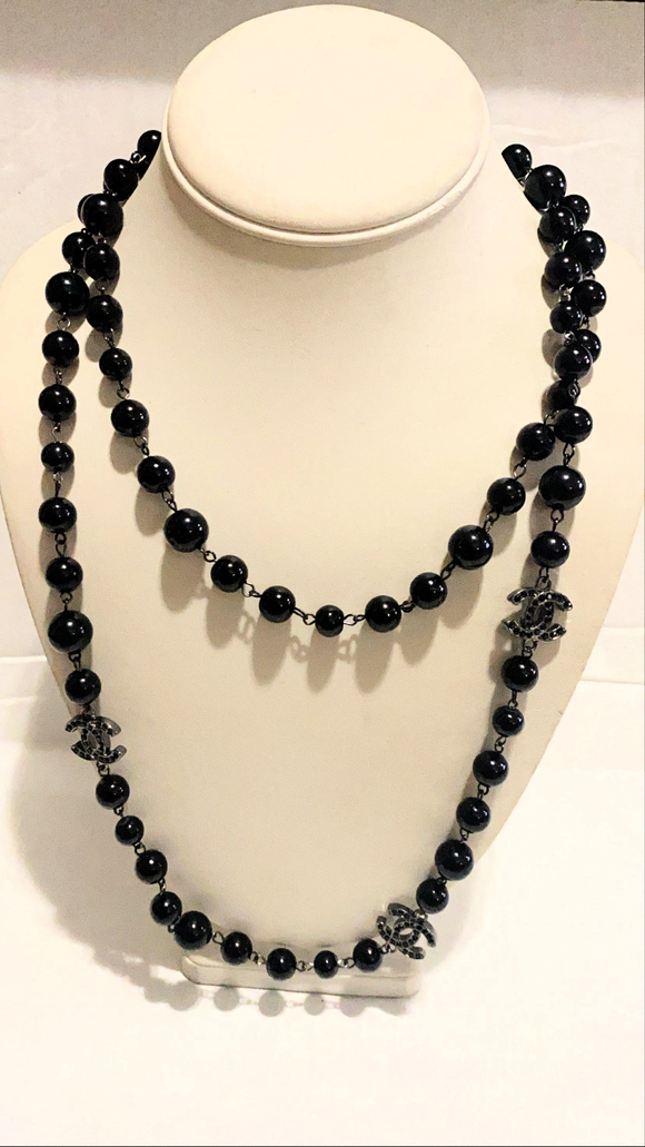 Black Double Layer Necklace