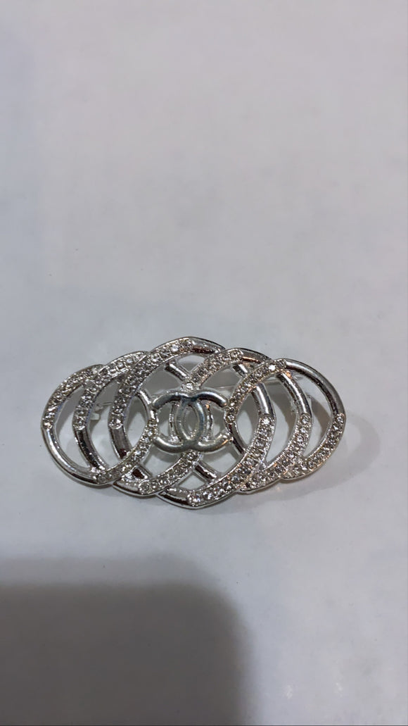 Silver Twisted Brooch