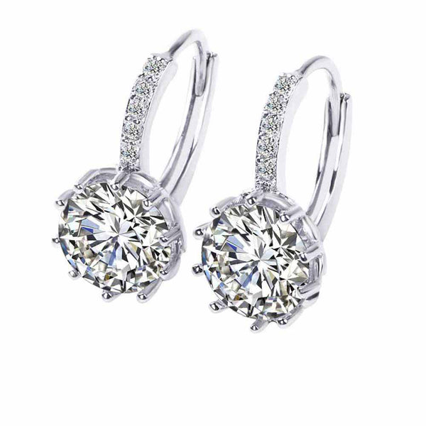 FAMSHIN High Quality Silver Fine CZ Zircon Earrings For Women Fashion Wedding Jewelry Earring Crystal Jewelry