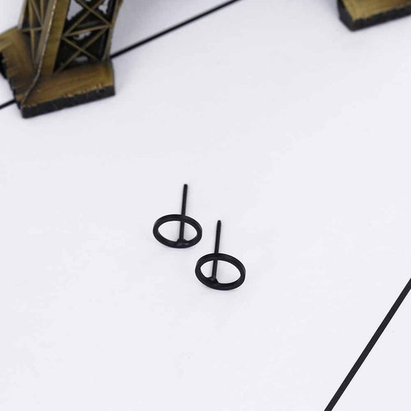 FAMSHIN 2017 Punk Black Gold Silver Earrings Simple T Bar Earring Women Girl Ear Stud Earrings Fine Jewelry Brincos Bijoux Femme