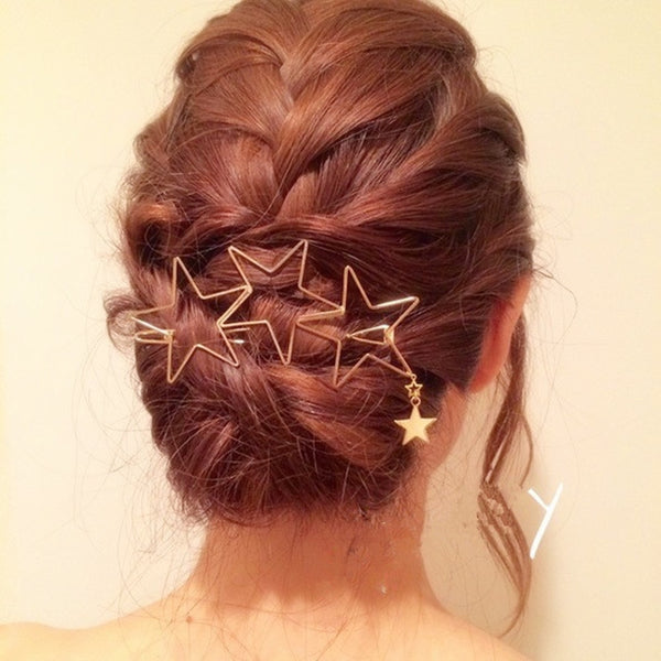 FAMSHIN 2017 new lady popular hollow star tassel hairpin hairpin hair high quality hair ornaments
