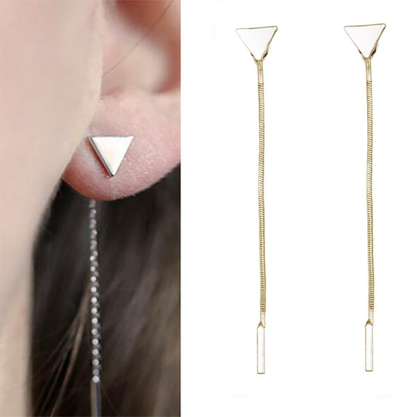 FAMSHIN fashion punk triangle earrings tassel chain earrings simple fashion decoration 2017 new