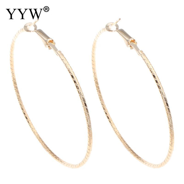 2017 New Personality Super Big Circles Hoop Earrings For Women Fashion Gold-color Jewelry Bijoux Trendy Statement Earrings