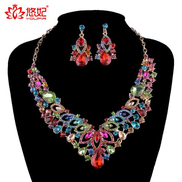 4338720c4d 17KM New Simulated Pearl Wedding Jewelry Set Crystal Necklace ...