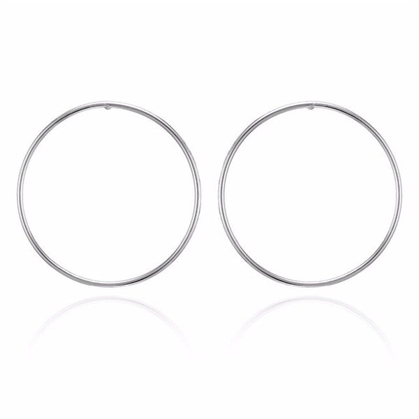 FAMSHIN New Simple Korean Fashion Aros Big Round Circle Hoop Earrings for Women Geometric Ear Hoops Earing Brincos Jewelry Gifts