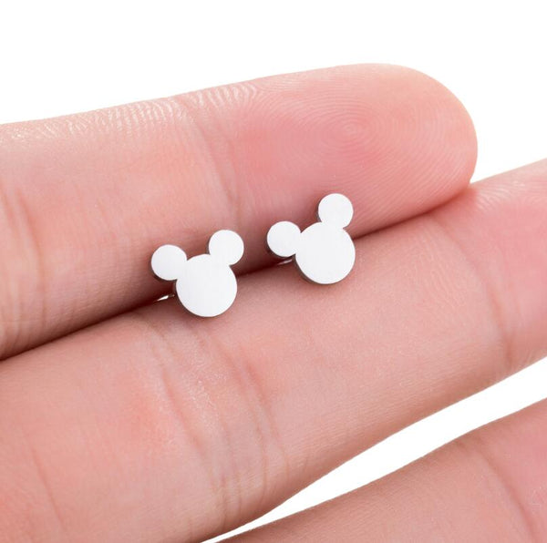 SMJEL New Fashion Cute Mickey Earrings Black Children Kids Jewelry Cartoon Mouse Animal Stud Earrings Gifts boucle d'oreille