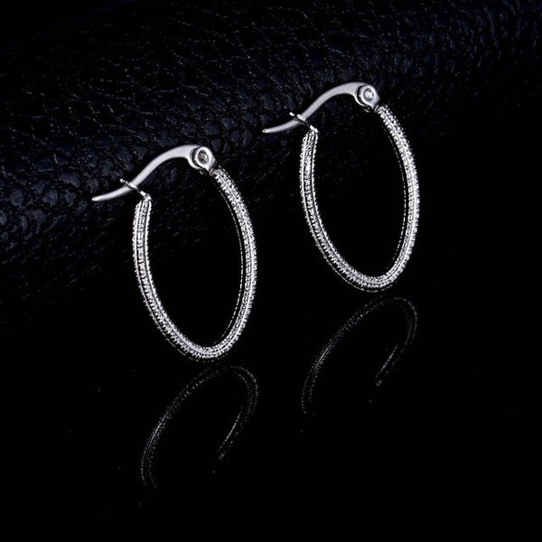 Oval Shape Gold Silver Color Hoop Earrings for Women Simple Plain Design Korea Style Statement Earrings Female Earrings Gifts