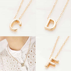 FAMSHIN 2019 New hot sale fashion Women's Metal Alloy DIY Letter Name Initial Link Chain Charm Pendant Necklace