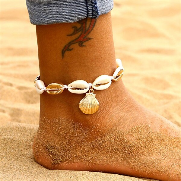 Fashion Heart Female Anklets Barefoot Crochet Sandals Foot Jewelry Leg New Anklets On Foot Ankle Bracelets For Women Leg Jewelry
