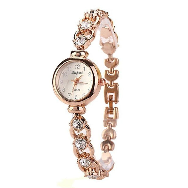 New Fashion Ladies Women Watch Gold Stainless Steel Rhinestone Quartz Clock Elegant Wrist Watch Relogio Feminino Dropshipping