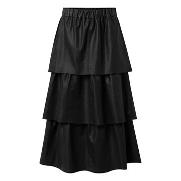 Onstage skind nederdel long skirt sort
