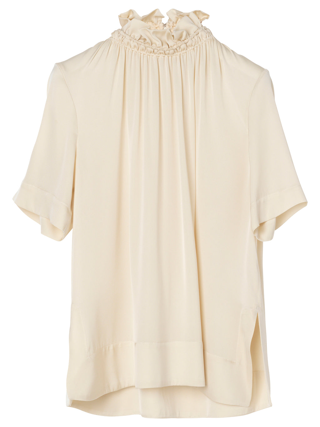 By Malene Birger Fraction bluse offwhite med flæsekrave