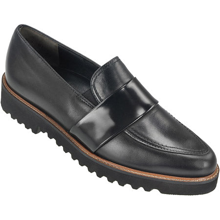 Paul Green Loafers 1670-003 sort skind (3925364506703)