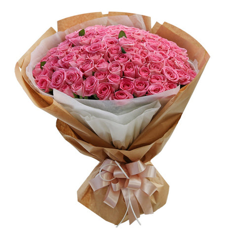 *100 x Pink or Red Roses