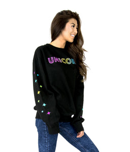 Unicorn Squad Adult Crew Neck Fleece