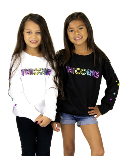 Unicorn Squad Kids Crew Neck Lightweight French Terry Fleece