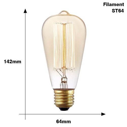 Edison Bulb E27 220V 40W  bulb lighting Retro Edison Light Bulb