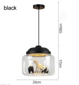 New Classical modern Nordic glass led
