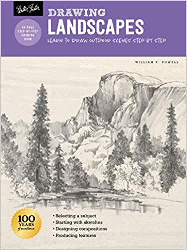Drawing: Landscapes with William F. Powell: Learn to draw outdoor scenes step by step  **Releases 3/3/20