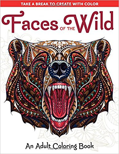 Faces of the Wild Coloring Book