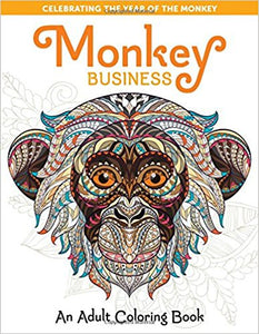 Monkey Business Coloring Book