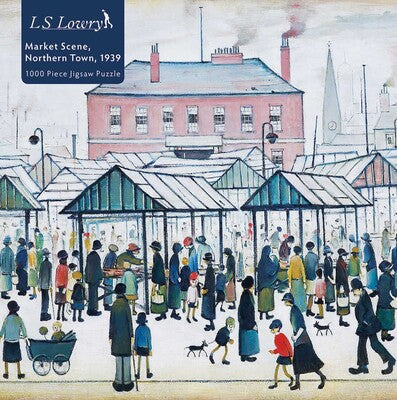 Adult Jigsaw Puzzle L.S. Lowry: Market Scene, Northern Town, 1939 **Release 3/16/2021