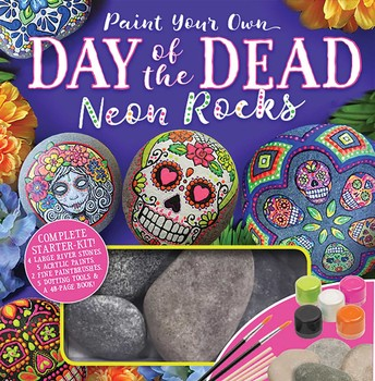 Paint Your Own Day of the Dead Neon Rocks (Kit)