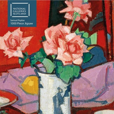 Adult Jigsaw Puzzle National Galleries Scotland - Samuel Peploe: Pink Roses, Chinese Vase