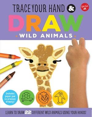 Trace Your Hand Draw Wild Animals