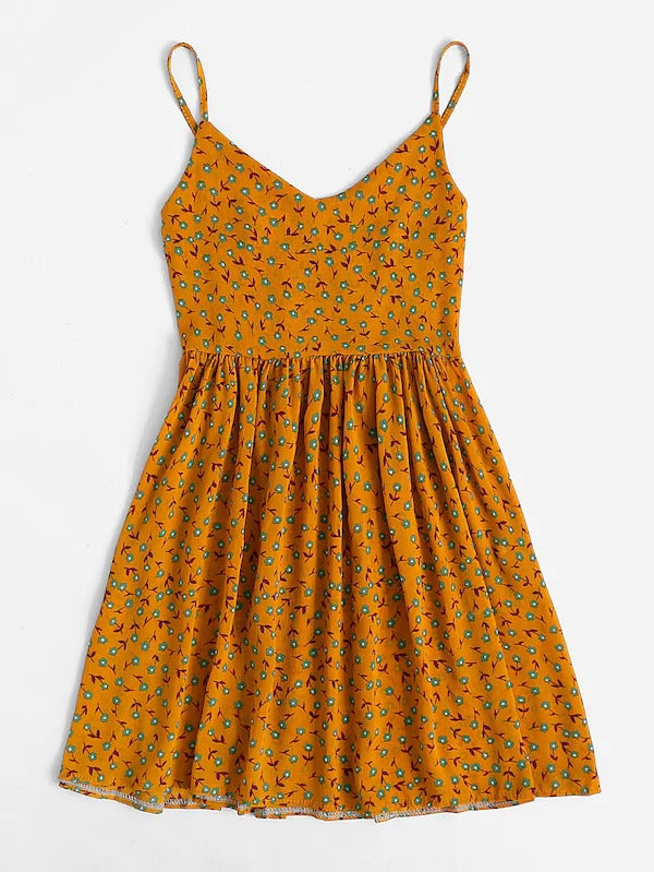 Ditsy Print Smock Cami Dress