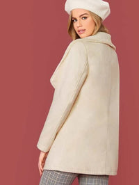 Faux Shearling Waterfall Coat