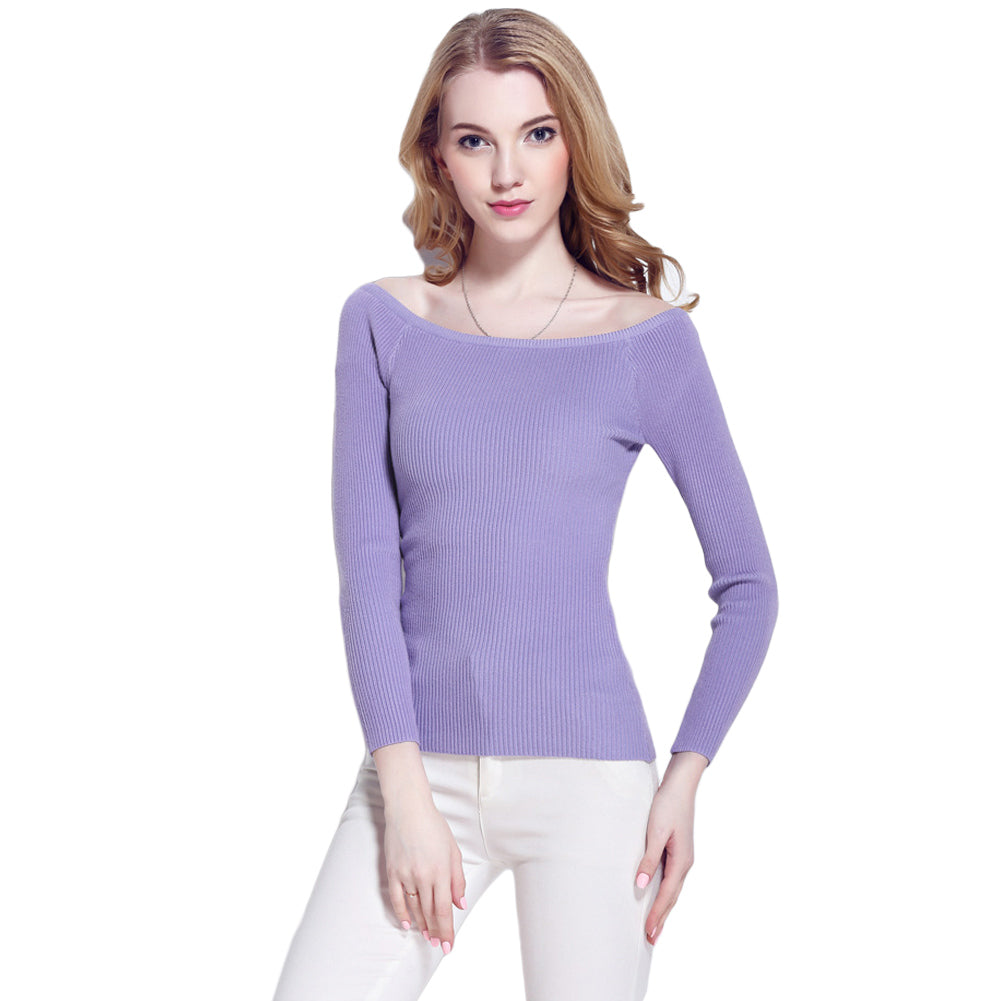 Women Slash Neck Jersey