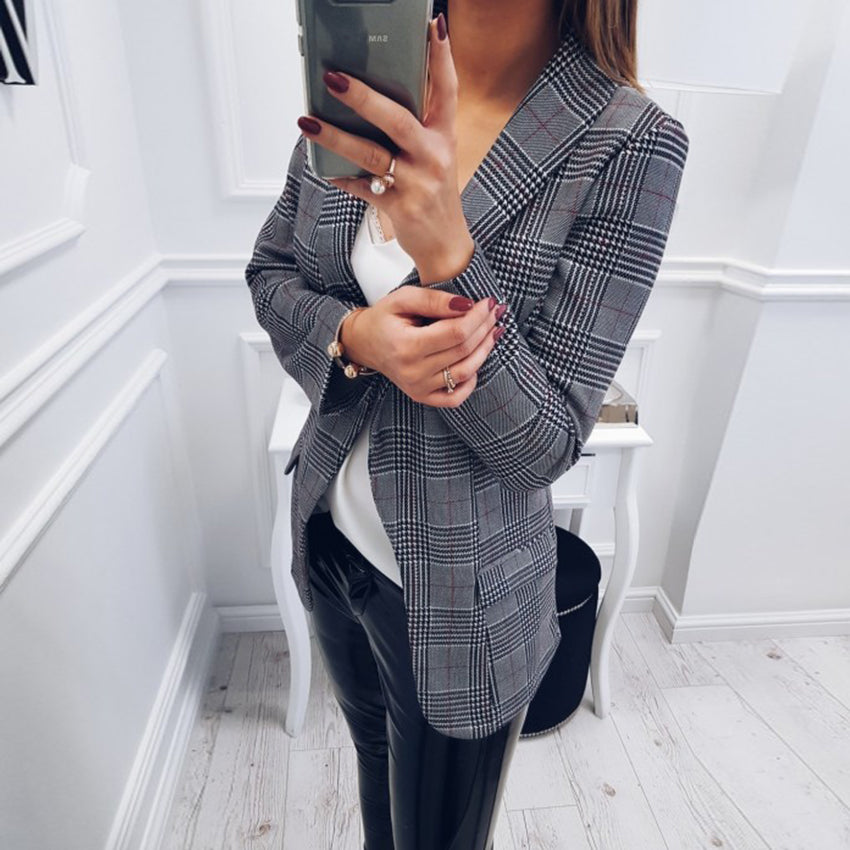 Slim Plaid Jackets