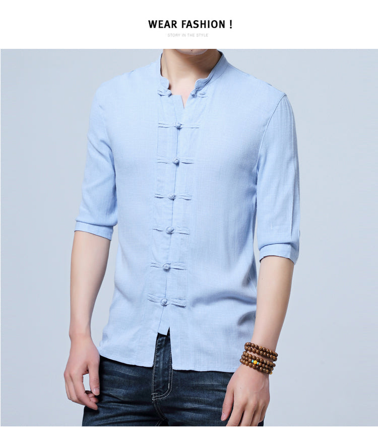 Chinese style cotton shirt - GaGodeal