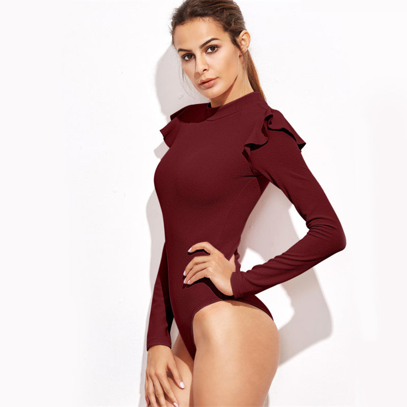 Neck Textured Bodysuit