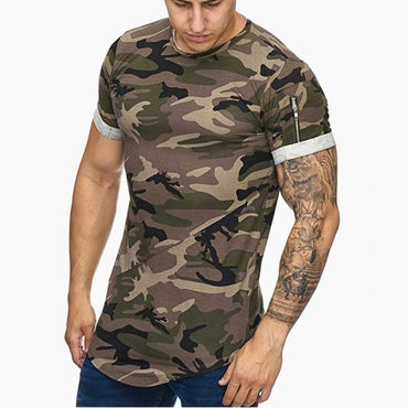 New Men t-shirt Bodybuilding Slim O-Neck Short Sleeve