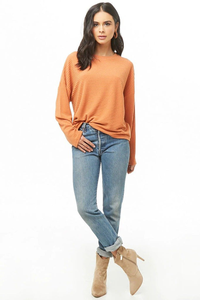 Ribbed Long Sleeve Top