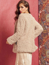 SBetro Zip Up Teddy Coat