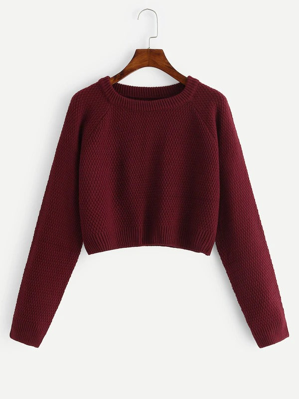 Raglan Sleeve Crop Jumper
