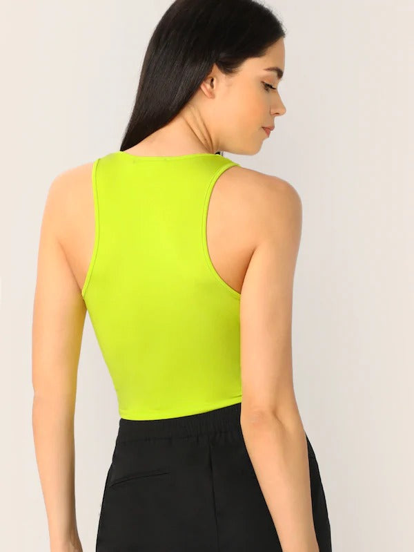 Scoop Neck Crop Tank Top