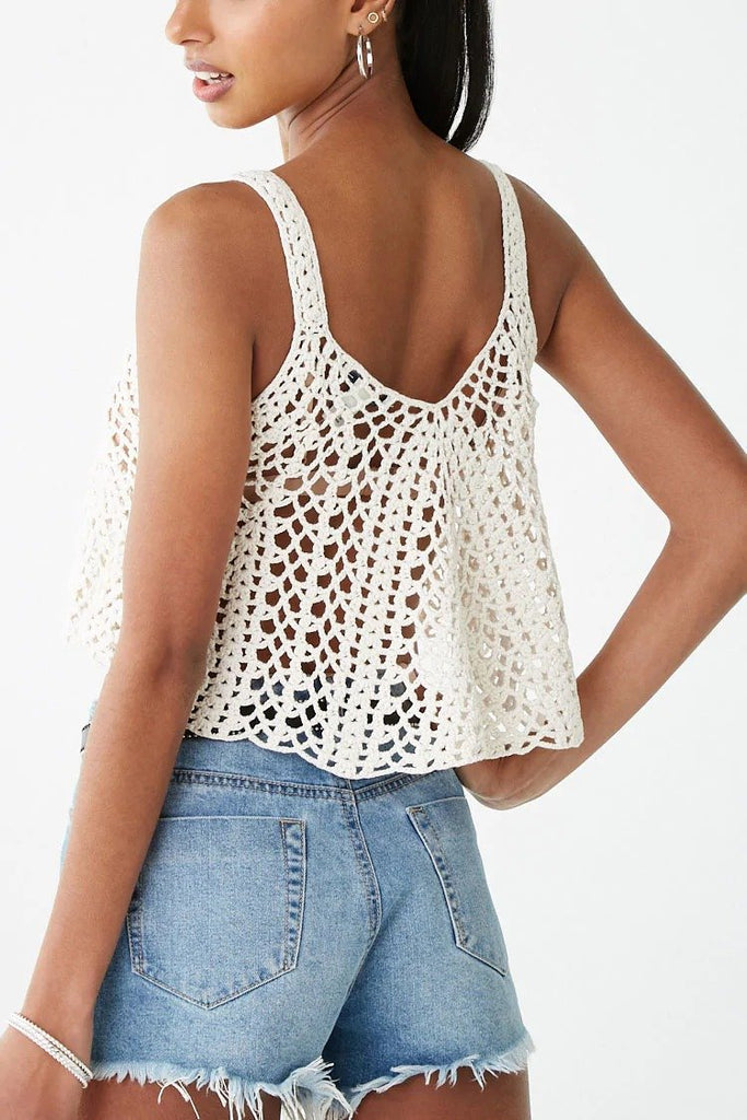 Sheer Crochet Crop Top