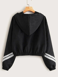 Striped Zip-Up Hooded Jacket