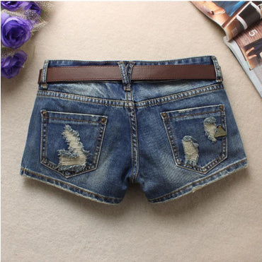 Newest S/3Xl Summer Women'S Trendy Hole Denim Shorts