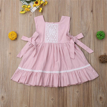 Cute Summer Baby Girl Sleeveless Princess Dress