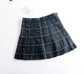 Harajuku Tartan Pink Women Skirt Sexy plaid Pleated Skirts