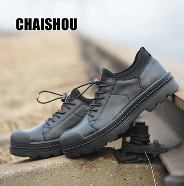 anti-smashing anti-piercing casual flats Desert Military Tactical Boots